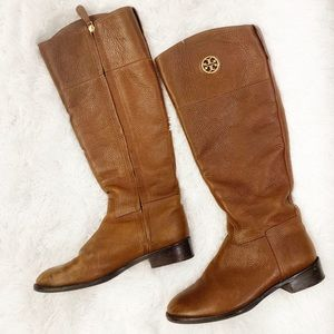 Tory Burch Junction brown leather boots 7.5